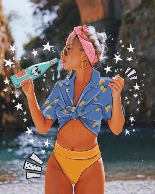 #freetoedit #sun #summer #ootd #outfit #remixit #cartoon