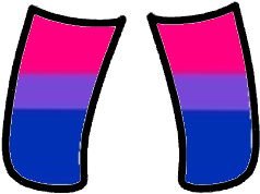 gacha socks: bisexual pride! This is part of a matching set so go check out my profile for the rest!! 💕💕 i also did a lesbian pride one so if tou are a lesbian I did one for y'all! #gacha #gachalife #pride #bisexual #freetoedit