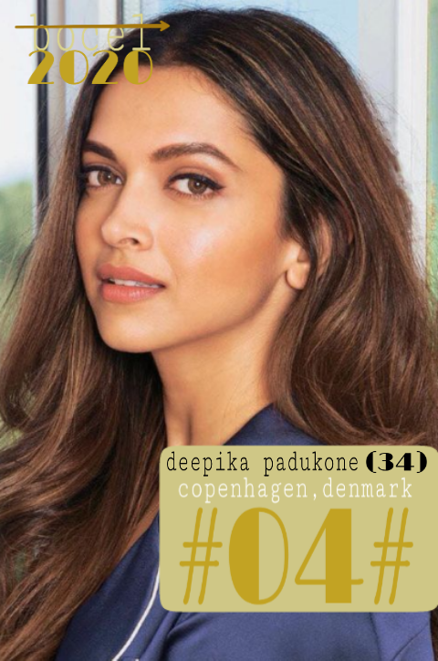 the 04th place in the bocel 2020 s2 compitition is: deppika padukone🎊  #bocel2020 #bollyZ