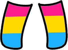 Pansexual pride gacha socks! This is part of a matching set so go to my profile for more!! #gacha #gachalife #pansexual #pan #pride #loveislove #freetoedit