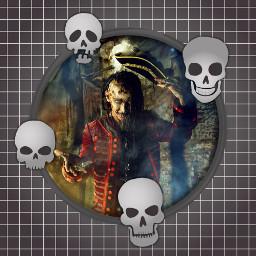 artistic skull fantastic frame freetoedit ftestickers