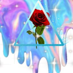 freetoedit drip rose glitter sparkle