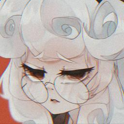 art animeart animegirl glasses helltaker freetoedit