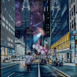 freetoedit galaxy alien balloon