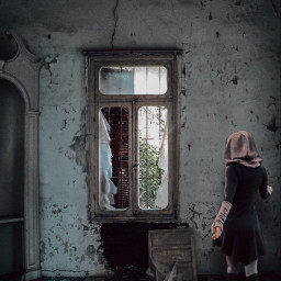 abandonedbuilding art photography girl dark