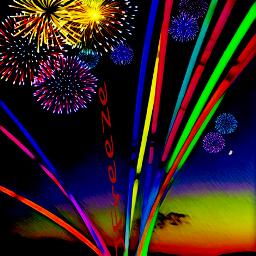 fireworks kayaking light glowsticks
