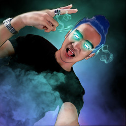 freetoedit smokeeffect glowingeyes