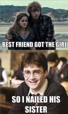 🤣 we love you harry ❤️ #potterhead #hermionegranger #ronweasley