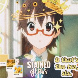 freetoedit k blobfishandcakeeater anime yellow nodaka art