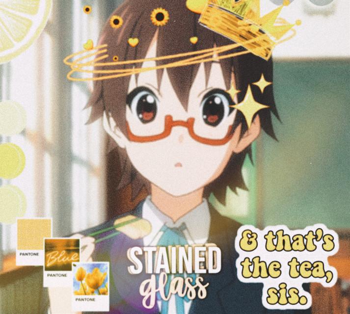 #freetoedit #k-on! #blobfishandcakeeater #anime #yellow #nodaka #art |Nodaka <3 mature and smart, always looking out for Yui~I love this onee~Nodaka is amazing 🥰