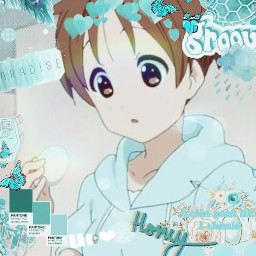 freetoedit blobfishandcakeeater anime teal k