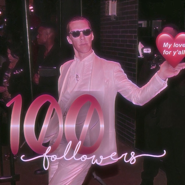100💗💗💗💗  Thank youuuuu  Omg❤️❤️ I know that 100 isnt a lot but still THANK YOU 💗  And Happy Birthday to Benedict 💞💞💞🌸  @ilovemillls thank you for helping me with the filter and the text 🌸💞💞💞💞  @st-011 @laura_z4 @tylerthedirectioner- @reddie- @badass_sweetheart @scft-voca @jacksparrcw @ezsaucee_00099 @likespaperings13 @blackwidow3000 @ahoyladies- @softmoans @stuckunderthebridge @ryfromthelosersclub @jedii_palpatine @aestheticdreamz @smol_argent @ryfromthelosersclub @mariaklinger5    #freetoedit #1000followers #100 #benedictcumberbatch #marvel #mcu #happybirthday