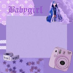 border purple aesthetic babygirl collage