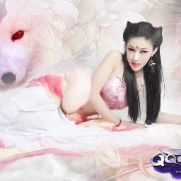 freetoedit fox pink beauty