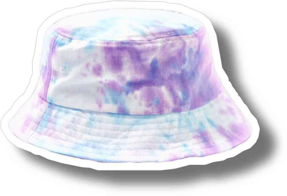 Made by kiwi give creds or get blocked  *sticker owner creds below i just edited it*   #freetoedit #niche #nichememe #tiedye #shadow #border #hat #buckethat