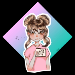 digitalart artcontest cutegirl congrats 100followers