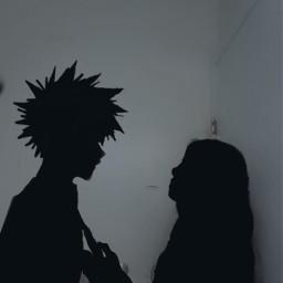 freetoedit bakugou myheroacademia silhouettes anime
