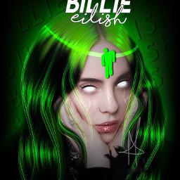 freetoedit billie eilish billieeilish green