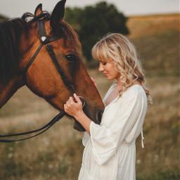 horse girl girls people nature freetoedit