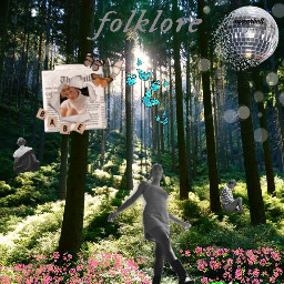 freetoedit folklore nature butterfly mirrorball
