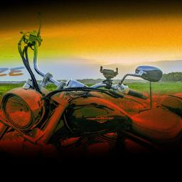 sunset motorcycle