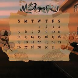 freetoedit august summer asthetic srcaugustcalendar