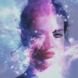 freetoedit picsart papicks galaxy girl rainbow space vynl nebula stars starry bokeh purplegalaxy bluegalaxy galaxies surreal surrealism