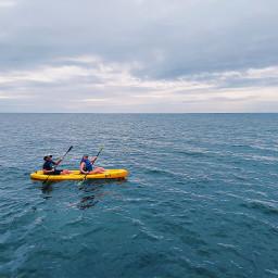 freetoedit kayaking water lake ocean