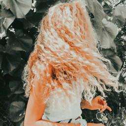freetoedit curlyhair vintageaesthetic vintageeffect orangeaesthetic