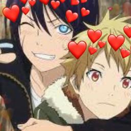 freetoedit noragami noragamiyato noragamiyukine yato yukine noragamiaragoto yatoxyukine anime animeboys cute