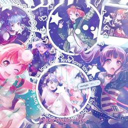 ako udagawa white overlay frame space galaxy purple aesthetic hagumi kitazawa bandori bangdream stars anime keepsmiling freetoedit