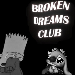 freetoedit bartsimpsons bart stitch fakingasmile broken brokendreamsclub sad depression