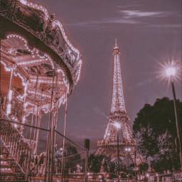 vintage aesthetic retro vsvo paris travel music circus bling wallpaper night photography freetoedit