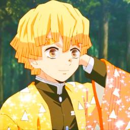 kimetsunoyaiba demonslayer zenitsuagatsuma agatsumazenitsu anime animeboy freetoedit