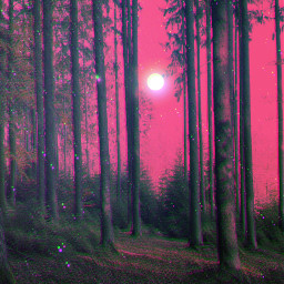 freetoedit surreal artisticedit myedit fantasy dreamy forest moon glitch glitchplease magical dream psychedelic unsplash
