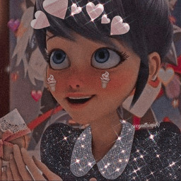 marinette marinettedupaincheng dupaincheng dupain cheng ladybug miraculousladybug miraculous disneychannel tv aesthetic cutegirl cute girl polarr glitter brillo uwuedit