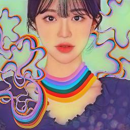 portrait beautiful woman artistic madewithpicsart freetoedit rccolorfulshapes colorfulshapes