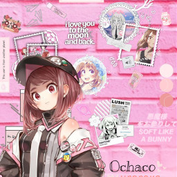 freetoedit anime myheroacademia urarakachako lovely girl pink