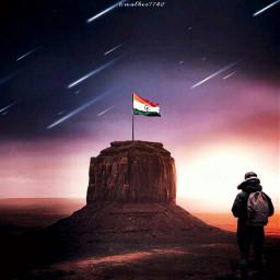 freetoedit independenceday india proudindian man