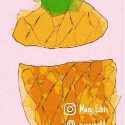 freetoedit fruitart pineapple🍍 watercoloreffect polygoneffect warmambereffect maeyedits fruitphotography pineappleart illustrations pineapple