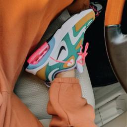 aesthetic asthetic vsco shoes shoe nike airforceone airforceones auburn orange