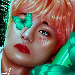 taehyung bts manipulationedit green kpopedit freetoedit