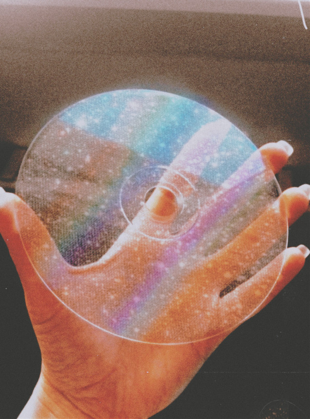 #aesthetic #cd #nails #aestheticcd #retro #retroaesthetic #rainbow #rainbowaesthetic #glitter #glitteraesthetic