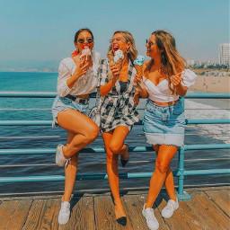 freetoedit summer bffs bff girls beach goodvibes icecream fyp xialuna