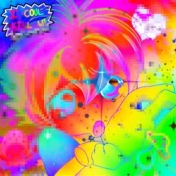 freetoedit scenecore scene cybercore cybergoth