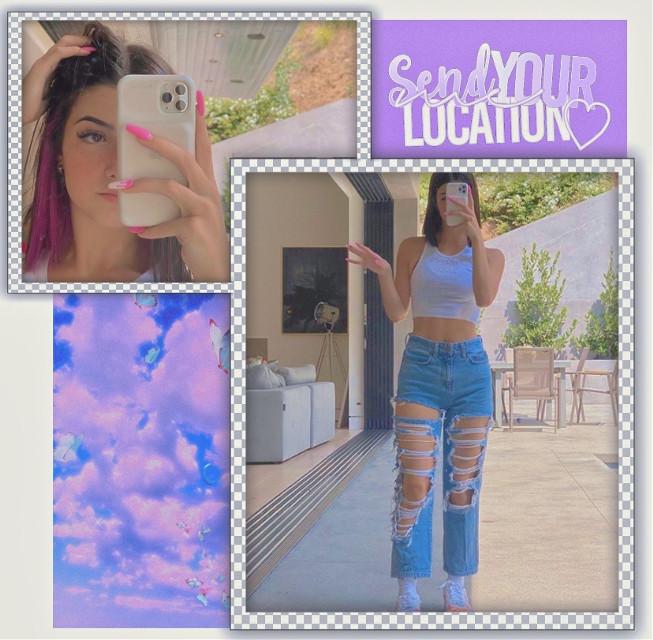 Charli🦋 THX FOR 400😳👍🏻 •  •  #freetoedit #charli #charlidamelio #dixiedamelio #tiktok #musically #pink #purple #blue #complexedit by #simpleedit #iphone #overlay #vine #overlays #aesthetic #iphone11