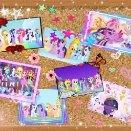 mlp mane6 twilightsparkle fluttershy rainbowdash rarity applejack pinkiepie freetoedit