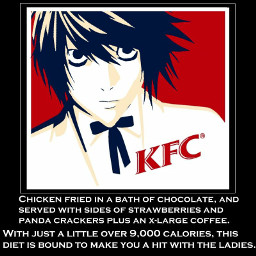 deathnote llawliet meme animememe funny kfc ryuzaki