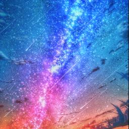 freetoedit madewithpicsart water sea ocean nebula nature sky stars starrysky fallingstars sun light sunset sunrise sunshine horizon clouds peace quiet colourful