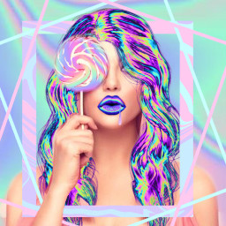 freetoedit edited lollipop holographic neon echolographicslime holographicslime